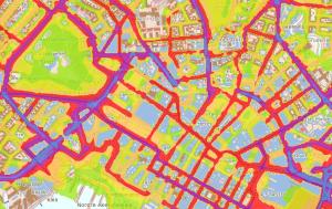 Lden-støykart for Oslo sentrum