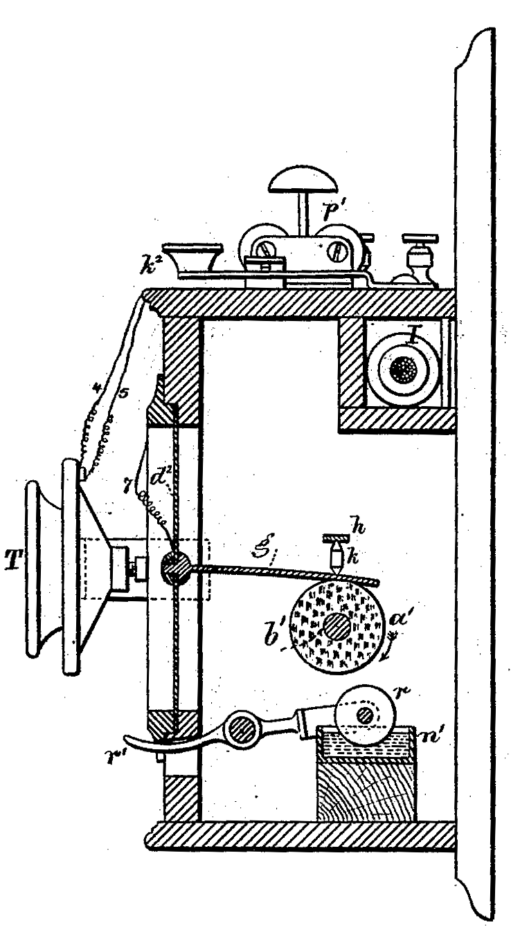 Friction-operated loudspeaker