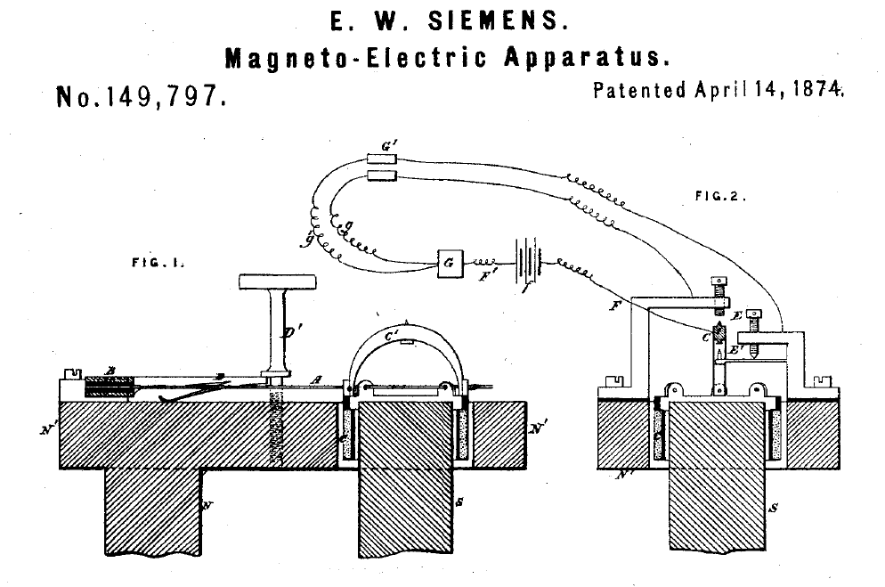 Siemens' moving coil transducer