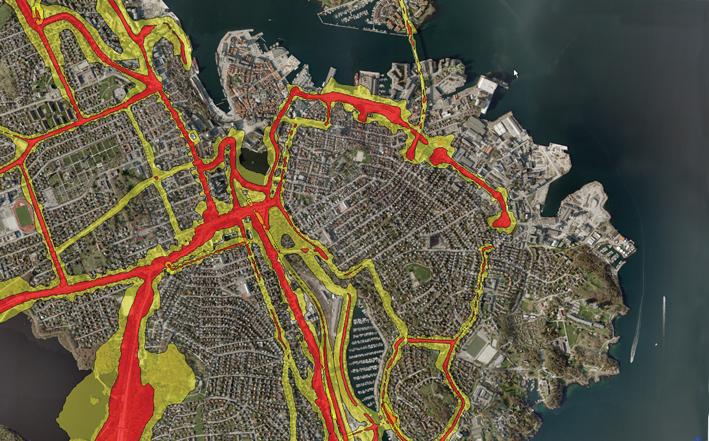 Rød og gul sone i Stavanger